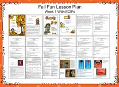 I have added an up-dated Fall Fun lesson plan to 1 - 2 - 3 Learn Curriculum.