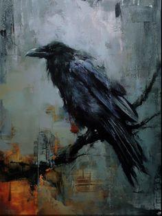A Lackadaisical Lexicon for Laggard Logophiles The Raven, Raven Art, Rabe Tattoo, Acrylic Painting Inspiration, Eagle Art, Crow Art, Bird Artwork, Bird Pictures, Wildlife Art