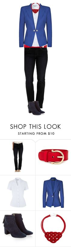 """Untitled #611"" by stylecoach05 on Polyvore featuring Lee, Salvatore Ferragamo, Balmain and Monsoon"