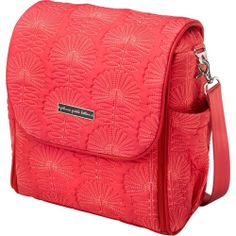 NEW PETUNIA PICKLE BOTTOM 'Boxy' Diaper Bag Notting Hill Stop Coral
