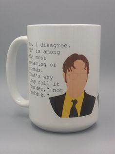 64ad10bf9dd Mukduk mug The Office Mugs, Dwight Schrute, Latte Mugs, Coffee Mugs, Office