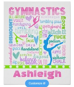 Gymnastics Typography Poster--that can be customized!
