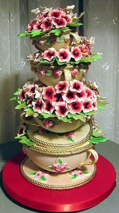 teapcups and flowers... by Branka Jovanovic
