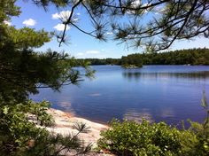 View of #Yawgoog Pond from Hemlock Ledge on the Yellow and Narragansett Trails.  Rockville, Hopkinton, Rhode Island (RI).  A June 21, 2014, image by Frieda Squires of the Rhode Island Hiking Club.