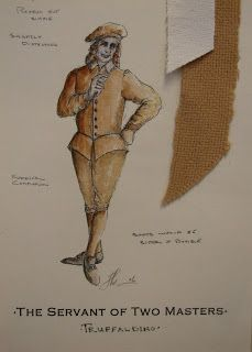 Costume Designer: Servant of Two Masters Costume Design Sketch, Sketches, Masters, Costumes, Drama, Drawings, Master's Degree, Dress Up Clothes, Fancy Dress