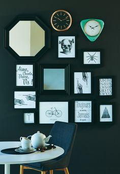 Mur de cadres Black & White - Idée déco Alinéa