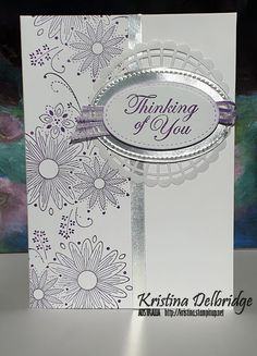 Kristina Delbridge - Independent Stampin' Up! Demonstrator Australia: Sympathy Card for a Friend Stampin Up Anleitung, Stamping Up Cards, Get Well Cards, Card Patterns, Card Sketches, Paper Cards, Creative Cards, Flower Cards, Greeting Cards Handmade