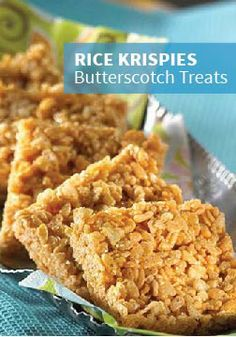 Rice Krispies Butterscotch Treats – Let the old-fashioned flavor of butterscotch take you back to your childhood by when you make this recipe with your kids today.