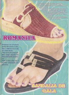 DE MIS MANOS TEJIDOS Y MAS...: Sandalias a crochet