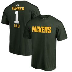 Green Bay Packers NFL Pro Line Number 1 Dad T-Shirt - Green - $31.99