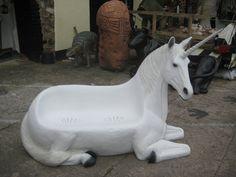 Unicorn Bench (JR 140001) - The Jolly Roger - Life Size 3D Models - Resin Figures