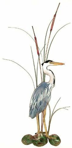 Bovano Enamel Home Wall Art Great Blue Heron Facing Right . $220.00. This beautiful piece would add style to any home.  This piece is of a beautiful Great Blue Heron with cattails.  This piece was designed as wall art.  This piece was designed by skilled artisans in Cheshire, Connecticut using vitreous enamel (glass) fused to copper in kilns at 1600 degress.