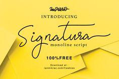 "Check out this @Behance project: ""Signatura Monoline Script - Free Font"" https://www.behance.net/gallery/47775793/Signatura-Monoline-Script-Free-Font"