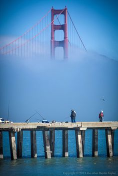 Fishing off the pier, San Francisco