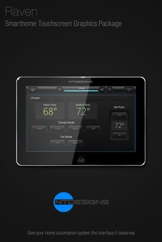 Smarthome & Home Theater graphics package for Crestron touchscreens.