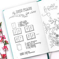 Bullet Journal Plans For June - Wundertastisch