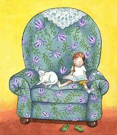 Books reading illustration