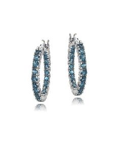 Take a look at this London Blue Topaz & Sterling Silver Hoop Earrings by Designs by FMC on #zulily today!
