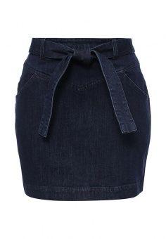 Юбка джинсовая Native Youth, цвет: синий. Артикул: NA022EWLTH20. Женская одежда / Юбки / Джинсовые юбки