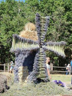 lavender windmill, so cute #LavenderFields
