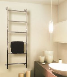Luxury Bathrooms West Midlands find hydronic and electric towel warmers with luxury style panel