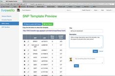 Livewello's SNP Sandbox