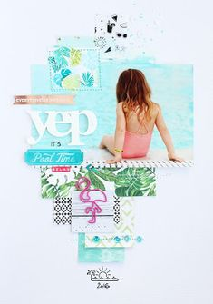 In The Scrap: Yep, it's Pool Time - Color Inspiration by Steffi