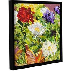 ArtWall Allan Friedlander Giving Love 2 inch Gallery-wrapped Floater-framed Canvas, Size: 24 x 24, White