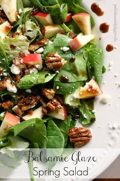 Making Life Blissful: Balsamic Glaze Spring Salad