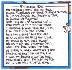 Christmas poem Calvin and Hobbes