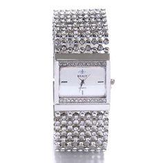 New Fashion Women Bracelet Watch Luxury Stainless Steel Quartz Watch Rhinestone Square Female Wristwatch Relogio Feminino Jx54