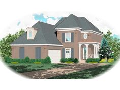 Country House Plan Front of Home 087D-0480  from houseplansandmore.com