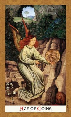 Ace of Pentacles - Golden Tarot
