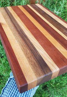 Superb wood cutting board hardwood display board 11 x solid wooden cutting board mahogany maple oak fancy cheese display board chef gift Woodworking Tools For Beginners, Learn Woodworking, Wood Working For Beginners, Woodworking Plans, Woodworking Projects, Woodworking Patterns, Wood Scraps, Wood Cutting Boards, Chopping Boards