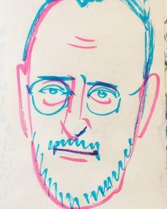 いいね!6件、コメント1件 ― @1mindrawのInstagramアカウント: 「#1mindraw #jeanreno #ジャンレノ #19480730 #birthday #誕生日 #portrait #筆ペン画」