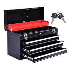 New Portable Tool Chest Box Storage Cabinet Garage Mechanic Organizer 3 Drawers – Home & Living – Home Improvement Ideas and Inspiration Office Storage, Tool Storage, Storage Boxes, Portable Tool Box, Portable Garage, Mechanic Garage, Mechanic Tools, Steel Tool Box, Tool Box Diy