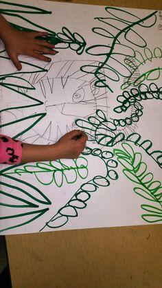 Paintbrush Rocket: Grade Art Folders inspired by Rousseau! Kindergarten Art Lessons, Art Lessons Elementary, Henry Rousseau, Animal Art Projects, Jungle Art Projects, Henri Rousseau Paintings, Art Folder, Forest Art, Virtual Art