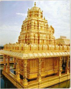 Sripuram templo de oro, Vellore, Tamil, Nadu, India