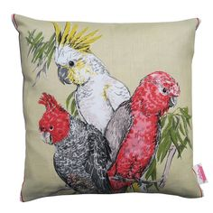 Vintage Retro - Australian Birds Cushion Cover | Merry-Go-Round on Madeit