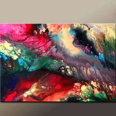 Into The Unknown - Original Abstract Art Painting 36x24 Contemporary by wostudios, $129.00