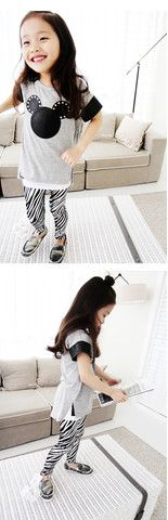 Metallic Zebra Leggings for girls 1-6. Cool kids fashion at Color Me WHIMSY.