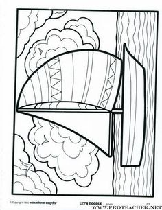 Let's Doodle: Sailboat (posted with permission) Summer Coloring Pages, Cartoon Coloring Pages, Animal Coloring Pages, Coloring Book Pages, Coloring Pages For Kids, Kids Coloring, Art Books For Kids, Doodle Coloring, Thread Art