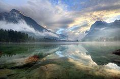 Озеро в Хинтерзее, Австрия