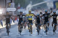 Chris Froome has completed the final stage of the 100th Tour de France to be confirmed as the winner in Paris. Team Sky crossed the line arm-in-arm as they celebrated Froome's Tour win. The 28-year-old Briton follows on from compatriot and team-mate Bradley Wiggins, who sat out of this year's race for health reasons.