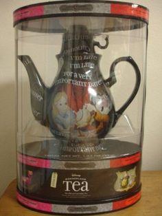 Amazon.com: DISNEY PARKS EXCLUSIVE : Disney Wonderland Teapot + 20 Teabags/5 Flavors: Kitchen & Dining