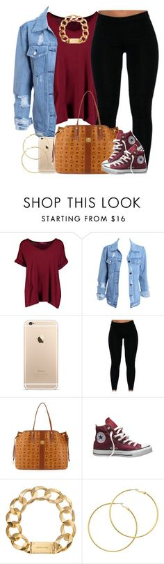 """""""Got a lil break """" by livelifefreelyy ❤ liked on Polyvore featuring Boohoo, MCM, Converse, Michael Kors and Melissa Odabash"""