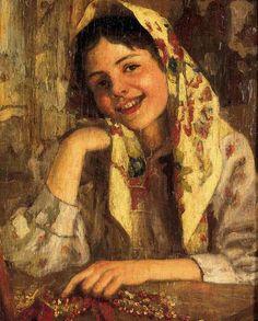 Сычков Федот Васильевич (1870-1958)«Девичья улыбка»