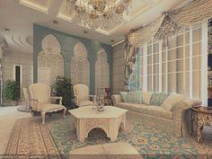 Morrocan Style Livingroom versi saya. UntuK Project Pak Abdullah, Pagesangan, Surabaya
