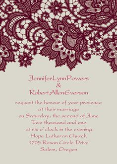 Wedding Invitations Simple ideas and tips for a classic cheap wedding invitations fall Wedding idea number 1478491181 posted on 20181125 Pink Wedding Colors, Burgundy Wedding, Fall Wedding, Dream Wedding, Sunset Wedding, Creative Wedding Invitations, Beautiful Wedding Invitations, Vintage Wedding Invitations, Vintage Lace Weddings