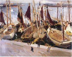 Sorolla - Boats in the Port, Valencia,1914
